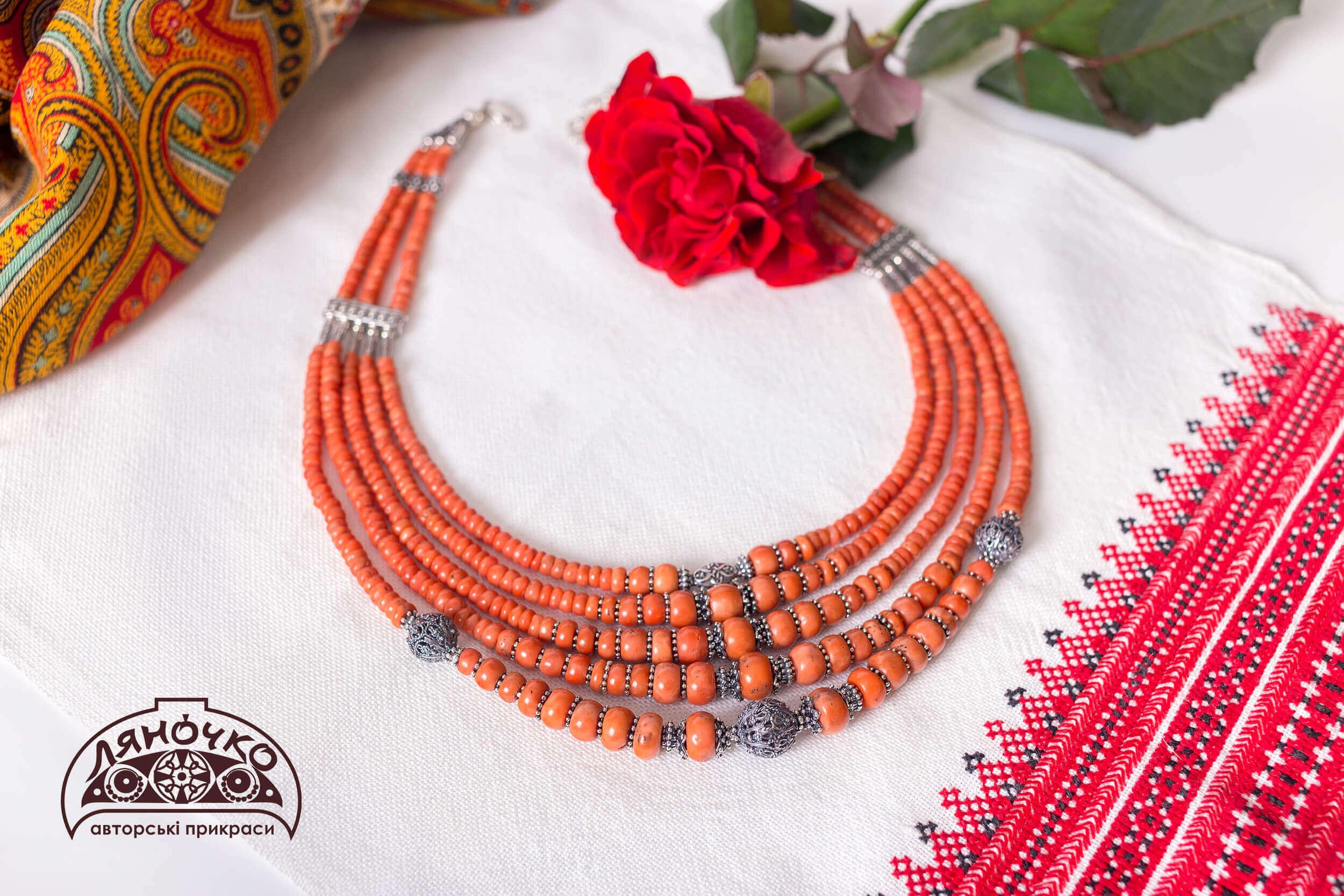 Елітний подарунок намисто з давнього коралу у києві, львові, харкові, дніпрі, україні фото