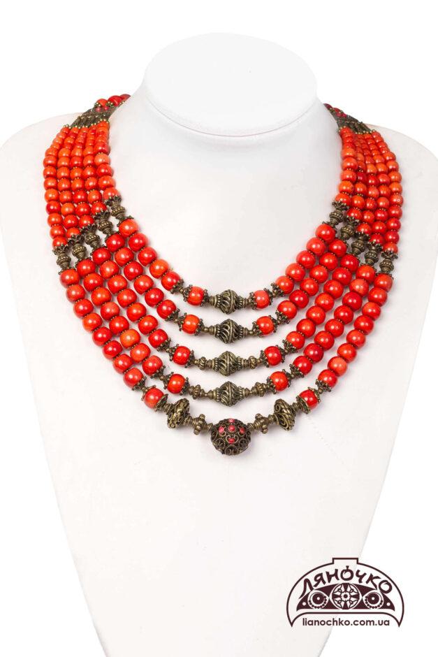 Купити намисто з коралу україночка фото