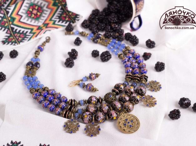 придбати намисто з венеційського скла фото