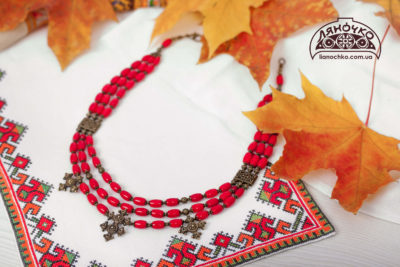 купити намисто зі згардами вишиванка фото