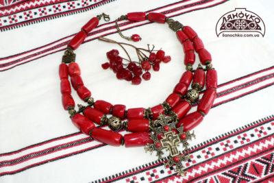 бойківчанка намисто з хрестом фото