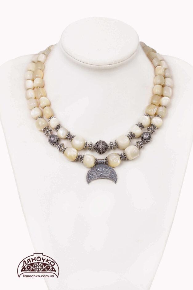 купити намисто з балатів з лунницею київ фото