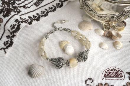 купити срібний браслет з баламутом в києві, україні